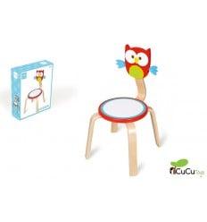 Scratch, silla infantil decoración Búho Lou