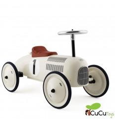 Vilac - Coche correpasillos vintage blanco, juguete clásico