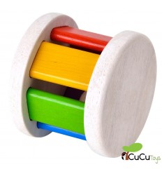 Plantoys - Sonajero de madera, diseño Roller