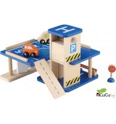 Everearth - Parking Garaje , juguete de madera