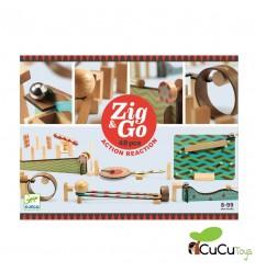 Djeco - Zig & Go 48 piezas, circuito creativo