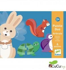 Djeco - Puzzle dúo Artículo Animalitos
