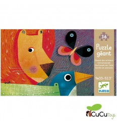 Djeco - The parade of the animals, giant puzzle 36 pcs