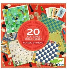 Djeco - Colección de 20 juegos clásicos