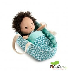 Lilliputiens - Bebé Ari con capazo, muñeca de peluche