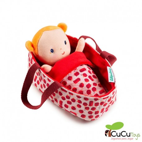 Lilliputiens - Bebé Agathe con capazo, muñeca de peluche
