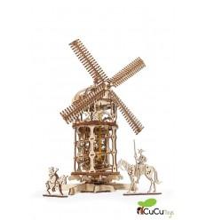 UGears - Molino mecánico, kit de madera 3D