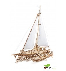 UGears - Caja de tesoros mecánica, kit de madera 3D