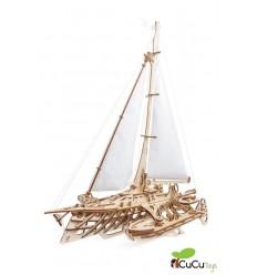 UGears - Trimarán Merihobus, kit de madera 3D