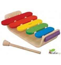 Plantoys - Xilófono de madera, juguete musical