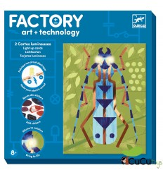 Djeco - Factory: Tarjetas luminosas - Insectarium