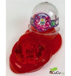 Mr. Boo, slime rojo con purpurina