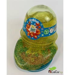 Mr. Boo, slime amarillo con purpurina