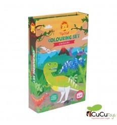Tiger Tribe - Set de colorear Dinosaurios