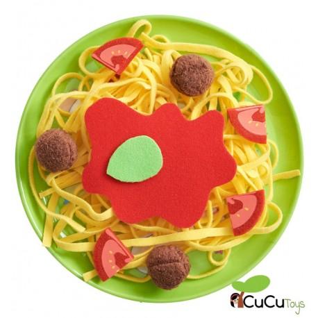 Haba - Espaguetis a la boloñesa