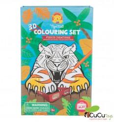 Tiger Tribe - 3D Colouring Set Criaturas Feroces