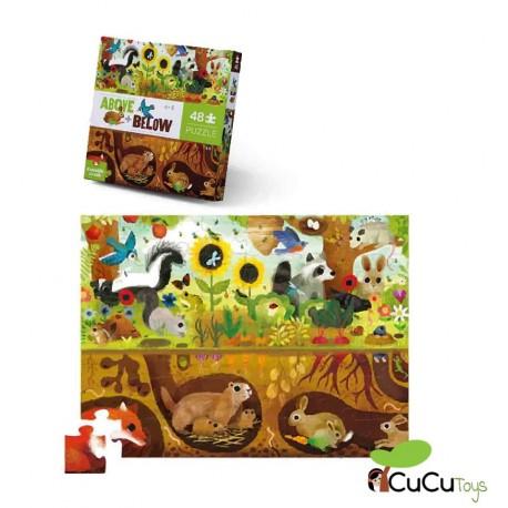 Crocodile Creek - Las cuatro estaciones, puzzle de suelo de 24 piezas