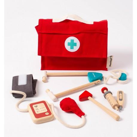Plantoys - Doctor Set, juguete de madera