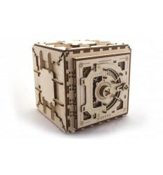 UGears - Caja Fuerte mecánica, kit de madera 3D