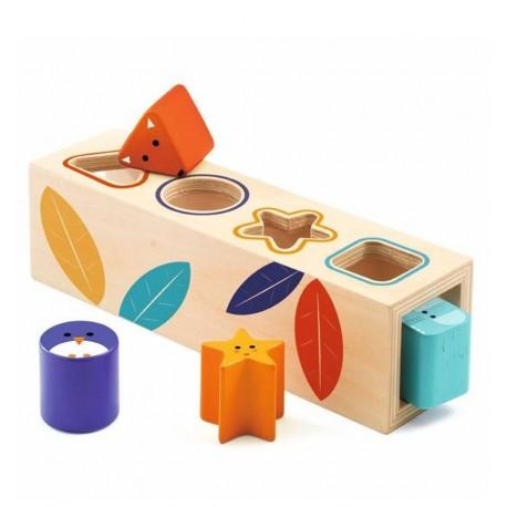 Djeco - Cubo de formas BoitaBasic, primer juguete