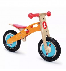 Scratch - Bicicleta de madera sin pedales, Racing Flies