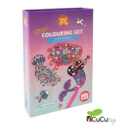 Tiger Tribe - Glitter Colouring Sets Ocean Dreams