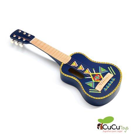 Djeco - Animambo Guitarra 6 cuerdas metálicas