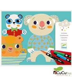 Djeco - Dibujos para colorear Animales encantadores