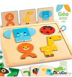 Djeco - GeoBasic, magnetic game