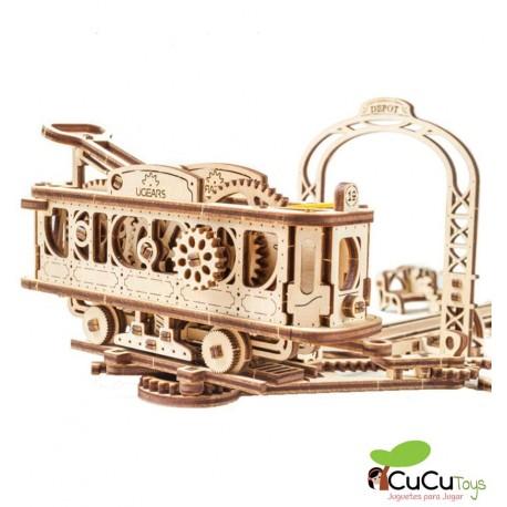 UGears - Tranvía, kit de madera 3D