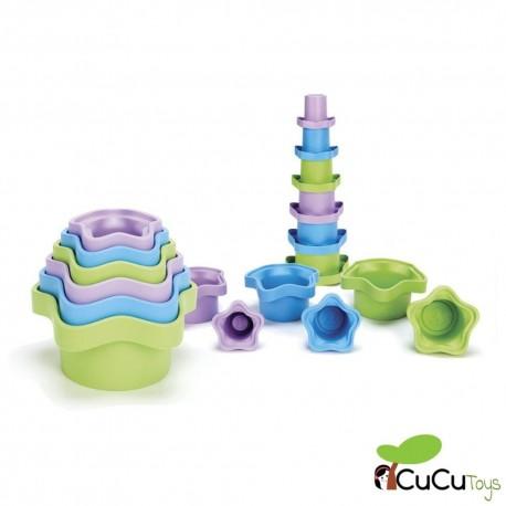 GreenToys - Cubos para apilar, juguete ecológico