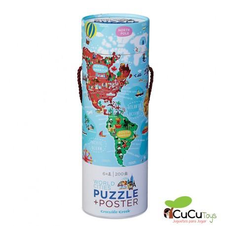 Crocodile Creek - Ciudades del Mundo, Poster + Puzzle 200 piezas