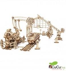UGears - Manipulador sobre raíles, kit de madera 3D
