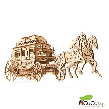 UGears - Stage Coach, 3D mechanical model