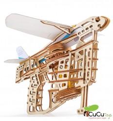UGears - Lanza-aviones, kit de madera 3D