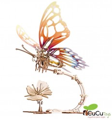 UGears - Mariposa mecánica, kit de madera 3D