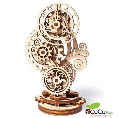 UGears - Steampunk Clock, kit de madera 3D