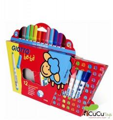 Giotto - Rotuladores para bebés, 12 colores