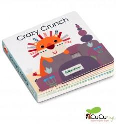 Lilliputiens - Livro de sons e texturas Crazy Crunch