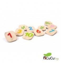 Plantoys - Números en Braille del 1 al 10, juguete educativo