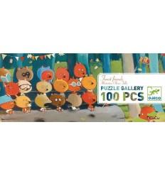 Djeco - Amigos del bosque, puzzle de galería 100 peças