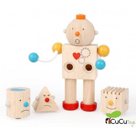 Plantoys - Robot de emociones, juguete de madera
