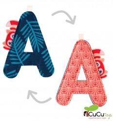 Lilliputiens - Letra A del alfabeto, de tela