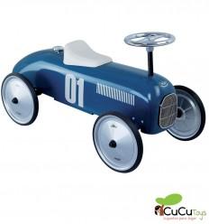 Vilac - Coche correpasillos vintage azul marino, juguete clásico
