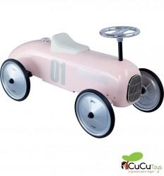 Vilac - Coche correpasillos vintage rosa palo, juguete clásico