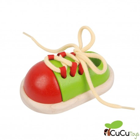 Plantoys - Ata tu zapato, juguete de madera