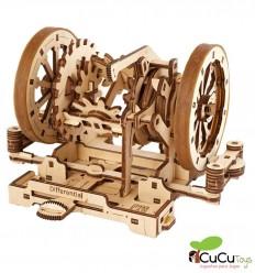 UGears - STEM Lab caixa de velocidades, kit de madeira 3D