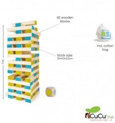 BuitenSpeel - Gran torre de madera, juguete de habilidad