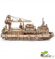 UGears - Research vessel, 3D mechanical model