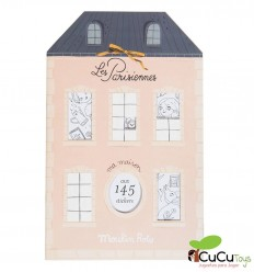 Moulin Roty - Parisiennes Coloring & Sticker Book